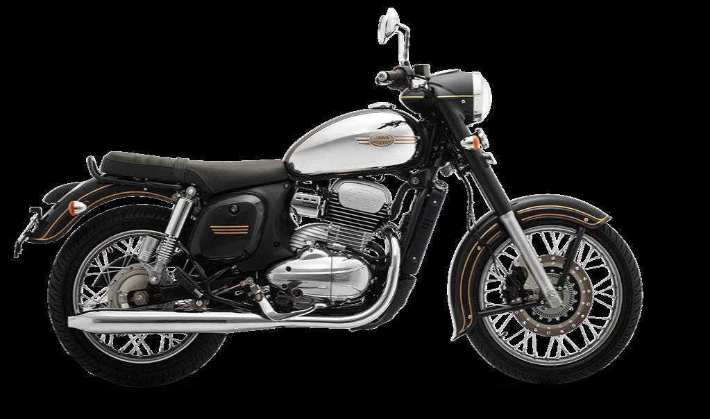 Jawa black motorcycle