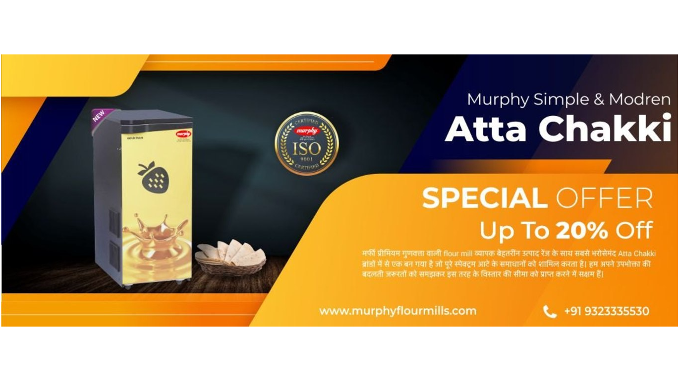 Bring home happiness with thoughtfully designed Murphy Flour Mills. Avail attractive discounts and EMI offers.