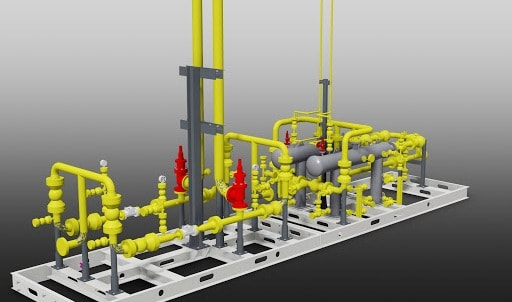 skid structural design in 3d and skid fabrication drawings specialist, consult with 3d-labs.com team