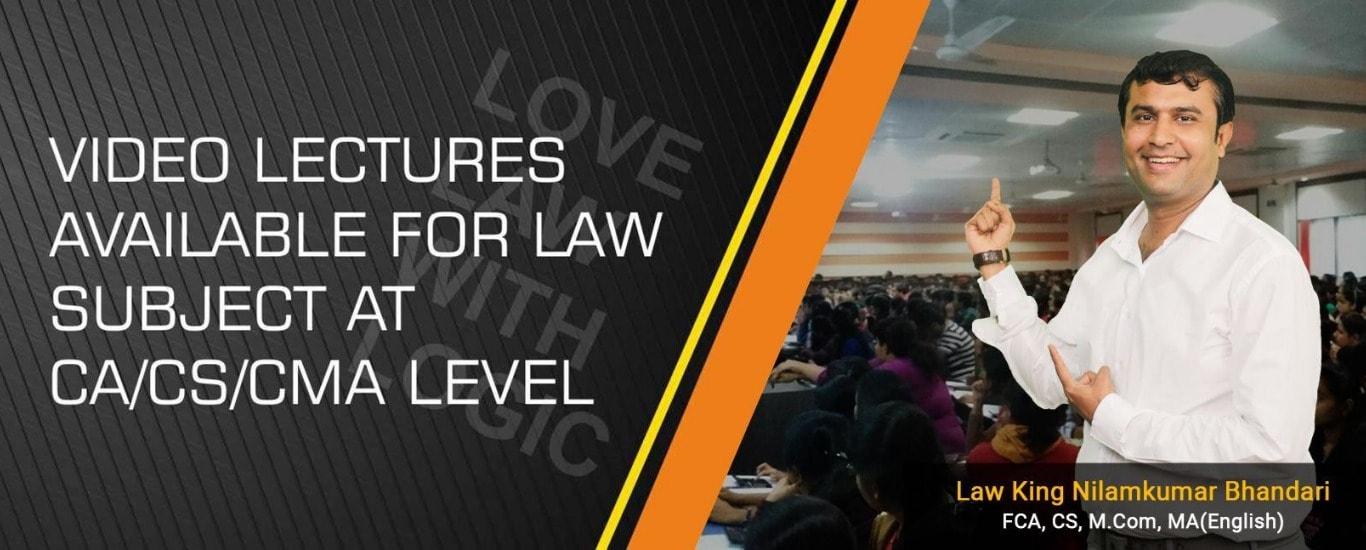 CA Inter | CA IPCC | Corporate & Other Law | CA Nilamkumar bhandari | Law logics | Law Summary | Ca final