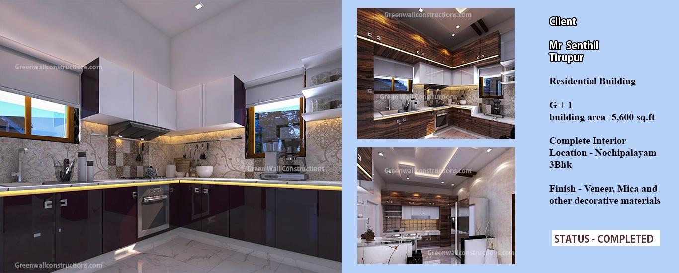 Green Wall Constructions & Interiors - Builder and Developer Agency in Gandhipuram Coimbatore, Coimbatore