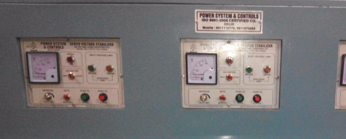 Power System  Controls - Voltage and Power Stabilizer Manufacturer in Maujpur, Delhi